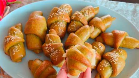 Cornetti rustici alla rucola: la ricetta per ottimi antipasti o aperitivi