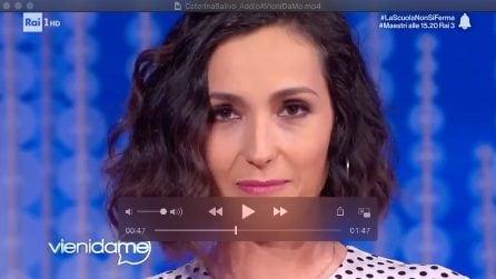 """L'addio di Caterina Balivo a Vieni da me: """"Per navigare l'oceano si deve perdere di vista la riva"""""""