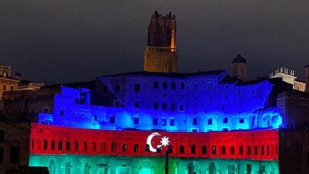 Ai Mercati di Traiano spettacolo di luci per l'Azerbaigian