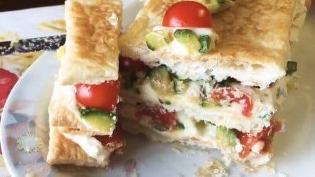 Millefoglie salata con zucchine: la ricetta veloce, fresca e saporita