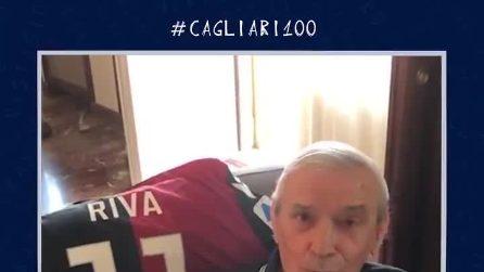 Gli auguri speciali di Gigi Riva per i 100 anni del Cagliari