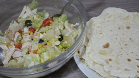 Insalatona e piadine: due ricette veloci per un pranzo saporito