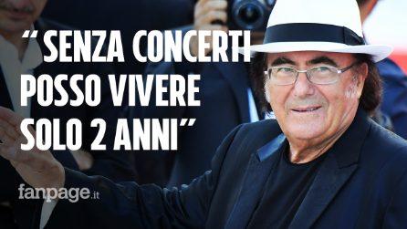 """Al Bano: """"Ho una pensione di 1470 euro, posso vivere senza concerti solo 2 anni"""""""