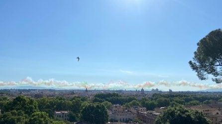 Festa della Repubblica, le Frecce Tricolori volano su Roma