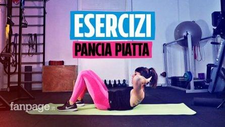 Gli esercizi per la pancia piatta: come eseguirli con i consigli della fitness coach