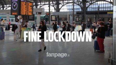 """Fine lockdown, si torna a viaggiare tra le regioni: """"Molto emozionante prendere il primo treno"""""""