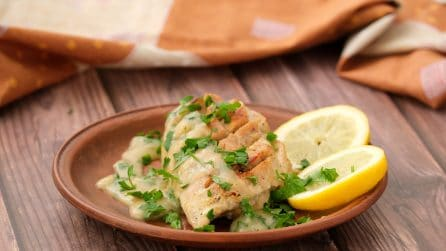 Creamy lemon chicken: It takes less than 30 minutes and just one pan!