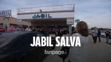 """Jabil salva, ministro Catalfo accolta tra gli applausi: """"Seguirò personalmente vertenza"""""""