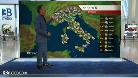 Previsioni meteo per sabato 06 giugno 2020