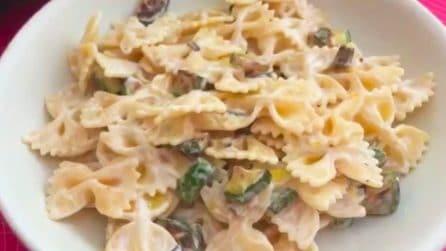 Farfalle con zucchine: la ricetta del primo piatto semplice e cremoso