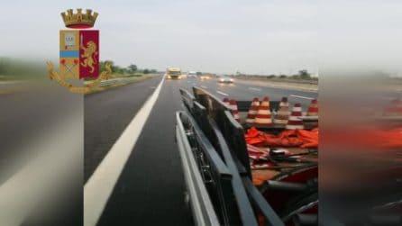 Lodi, paura sull'Autostrada A1: camionista ubriaco sbanda col tir, fermato dalla polizia
