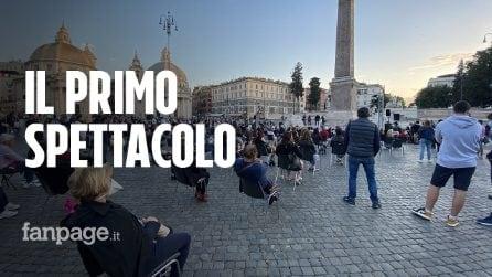 Roma, a piazza del Popolo il primo spettacolo dopo il lockdown