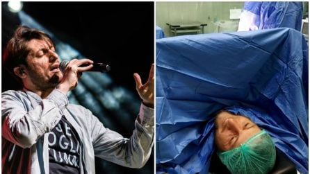 """Canta """"Perdere l'amore"""" di Ranieri in sala operatoria: lo show del neomelodico Totino Melillo"""