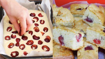 Torta soffice alle ciliegie: la ricetta del dessert veloce e gustoso
