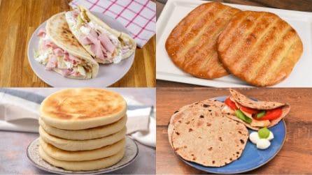 4 Ricette facili per fare pane, piadine e focacce in casa in pochi passi!