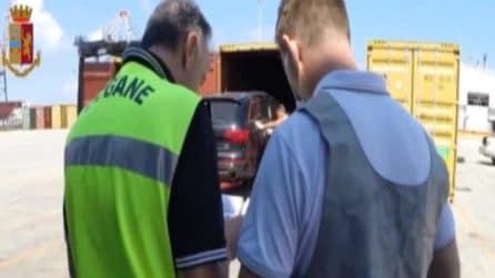Auto lusso rubate, polizia sventa traffico internazionale in Porto Gioia Tauro