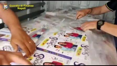 Sequestrati oltre 5500 tra libri di fiabe per bambini e capi di abbigliamento contraffatti