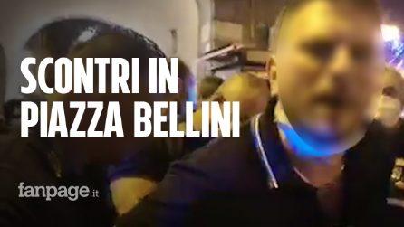 Tensioni in piazza Bellini a Napoli: ressa e scontro con la polizia, 3 giovani arrestati