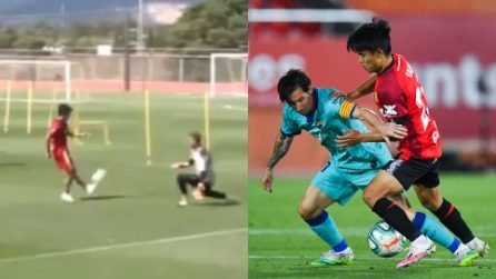 Magia fantastica in allenamento di Takefusa Kubo, il Messi giapponese