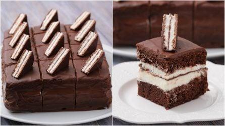 Torta fredda panna e cioccolato: il risultato è irresistibile!