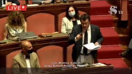 """""""I porti chiusi condannano a morte migliaia di persone"""": il lapsus di Salvini al Senato"""