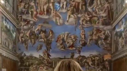 Chiara Ferragni visita con Fedez la Cappella Sistina: il video