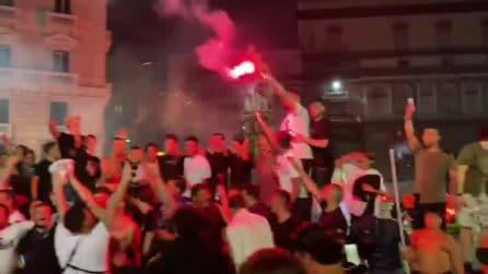 Il Napoli vince la Coppa Italia: centinaia in piazza per festeggiare: le immagini dal drone