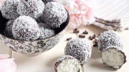 Praline cocco e cioccolato senza cottura: la ricetta per averle perfette
