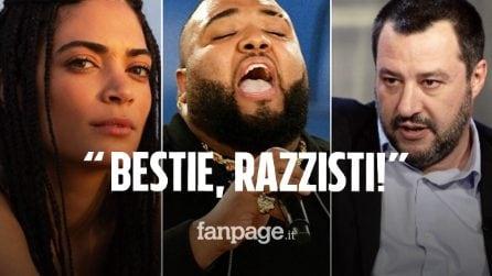 """Elodie difende Sergio Sylvestre: """"Siete bestie, razzisti. Matteo Salvini un piccolo uomo"""""""