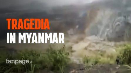Myanmar, frana in una miniera di giada: almeno 113 morti. Il video della tragedia