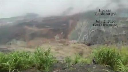 Myanmar, frana in una miniera di giada uccide decine di persone: il momento del disastro