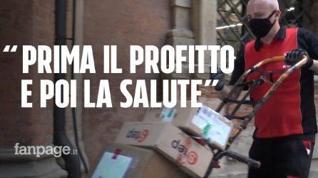 """Focolaio Brt, SiCobas in piazza: """"Per il profitto azienda ha deciso di non chiudere e non fare test"""""""