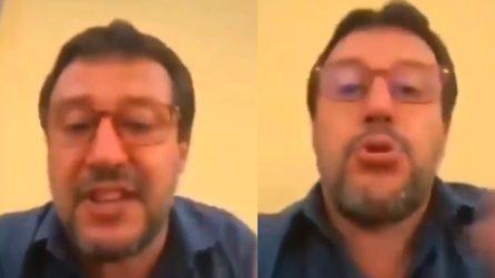"""Salvini contro i contestatori di Mondragone: """"Puzzo? Eh state voi con quella gentaglia per 2 ore"""""""