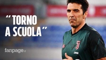 """Gigi Buffon torna a scuola: """"Concluderò la quinta, così i miei genitori saranno soddisfatti"""""""