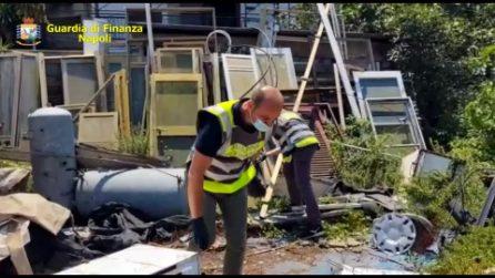 Nola, oltre 65 tonnellate di rifiuti pericolosi in un terreno