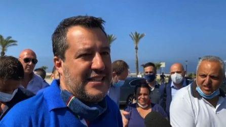 """Salvini a Mondragone: """"Con Pd e M5S al governo non ci vado"""""""