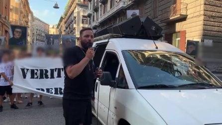 """Omicidio Ugo Russo, corteo al centro di Napoli. Il padre: """"Chi ha visto, parli"""""""