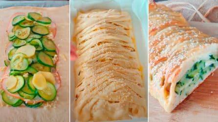 Strudel salato con zucchine: la ricetta rustica che conquisterà tutti