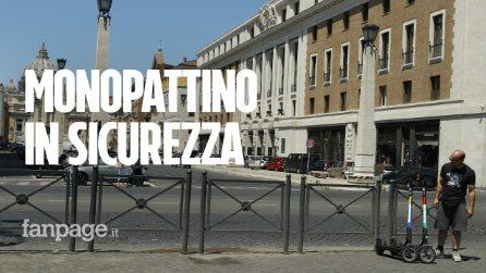 Come usare il monopattino a Roma, tra macchine, buche e sampietrini