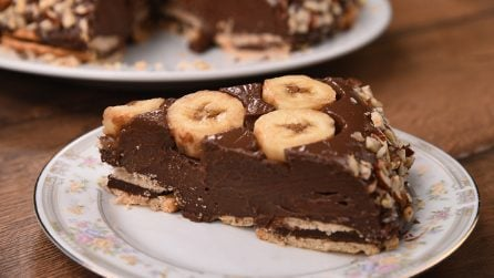 Chocolate and banana pudding cake: a no-bake dessert to try!
