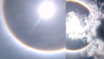 Terremoto in Messico, dopo la scossa un enorme arcobaleno circolare appare in cielo