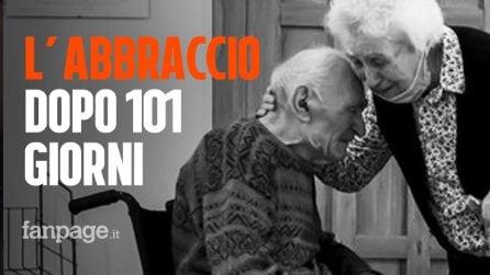La storia di Guido e Maria di 103 e 93 anni, separati dal Covid: l'abbraccio dopo 101 giorni