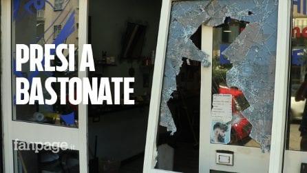 """Raid a Centocelle, devastati barbiere e pizzeria: """"Cercavano qualcuno tra i clienti"""""""