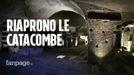 """Riaprono ai turisti le catacombe di San Gennaro: """"Dopo 4 mesi di chiusura riscopriamo la cultura"""""""""""