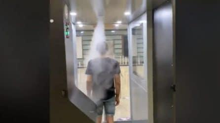 L'aeroporto di Napoli è il primo in Italia con le cabine di sanificazione anti coronavirus