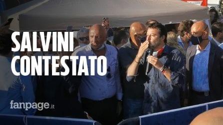 Matteo Salvini a Mondragone: discorso annullato, incontro in piena zona rossa senza mascherina