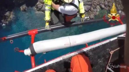 Sardegna, escursionista in difficoltà: le straordinarie immagini del salvataggio