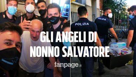 Gli angeli di nonno Salvatore: agenti di polizia aiutano 89enne solo in casa e con pochi soldi
