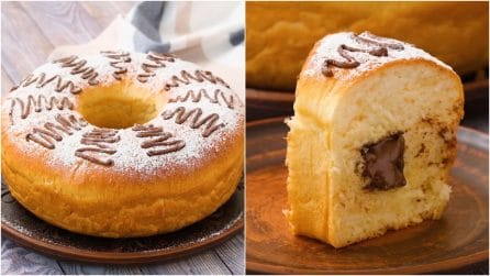 Hazelnut cream brioche: fluffy and tasty!