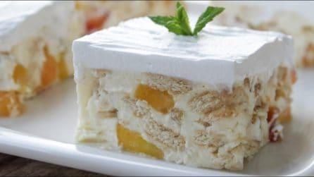 Semifreddo pesche e biscotti: la ricetta del dessert fresco e cremoso